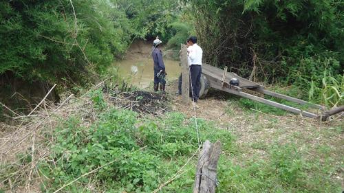Trở lại điểm 'tử thần' đu dây cáp qua sông