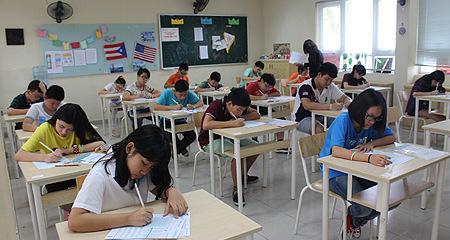 6.000 học sinh Hà Nội thử sức với bài thi tiếng Anh chuẩn quốc tế