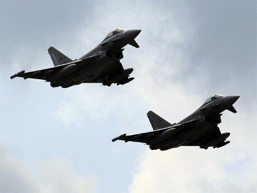 Máy bay Đức liên tục cất cánh chặn chiến đấu cơ Nga