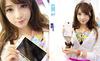 Mỹ nữ búp bê khoe smartphone sành điệu