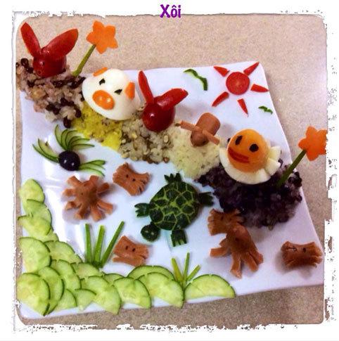 bữa sáng, chuẩn bị, thực đơn, chăm con, mẹ Việt