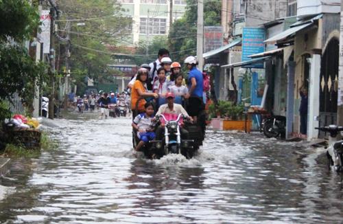Sài Gòn, triều cường, thành phố, TP Hồ Chí Minh, kẹt xe, khẩu trang, chống nắng, ngập, xe máy, ô tô, quy hoạch