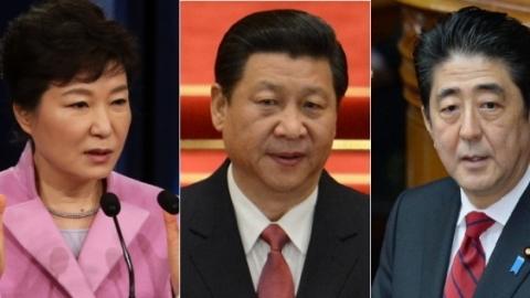 Nhật, Trung, Hàn, Park Geun-hye, Tập Cận Bình, Shinzo Abe, tham nhũng, kinh tế, tăng trưởng