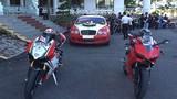 Johnny Trí Nguyễn tham gia đoàn mô tô rước dâu ở Kiên Giang