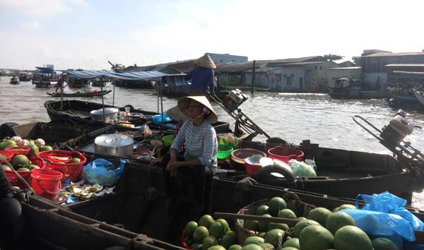 miền Tây, ĐBSCL, mùa nước nổi, chợ nổi, Cà Mau