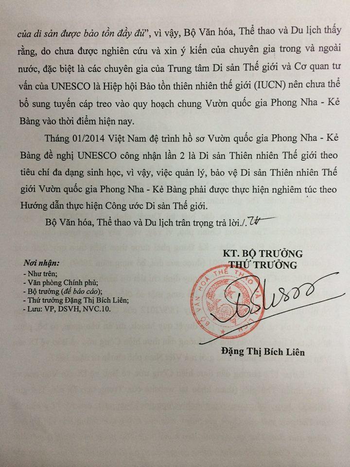 Phong Nha - Kẻ Bàng, cáp treo