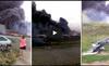 Rúng động đoạn clip MH17 cháy ngùn ngụt