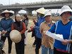 Dân ngăn cản thi công nút giao QL5 với cầu Thanh Trì