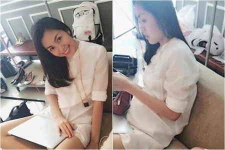 Hà Tăng, có bầ, Louis Nguyễn, làm mẹ