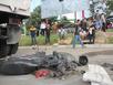 Giật mình bởi còi hơi, một phụ nữ bị xe ben cán chết