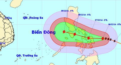 bão, siêu bão, Hagupit, biển Đông, Nam Trung Bộ, mưa