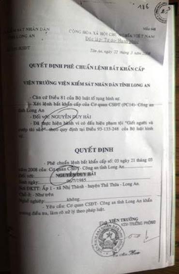 Vụ Hồ Duy Hải: Tang vật được mua... ngoài chợ?