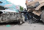 Xe container gây tai nạn liên hoàn trên Ql5