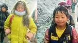Học sinh tiểu học đóng băng vì cái rét -5độ C khi tới trường