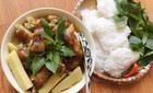Thịt chân giò nấu giả cầy thơm ngon cho bữa cơm chiều