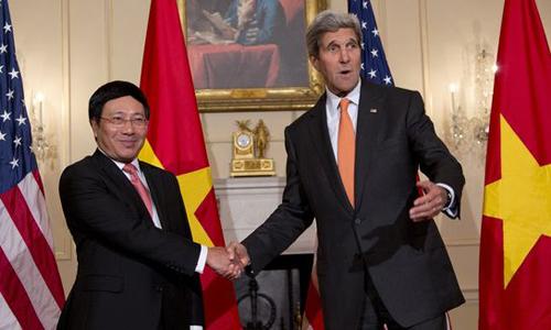 John Kerry, vũ khí, Biển Đông, Phạm Bình Minh, Mỹ, hạt nhân
