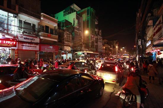 kẹt xe, Sài Gòn, TP.HCM, nghiêm trọng, pháo hoa, giao thừa, Tết Dương lịch,