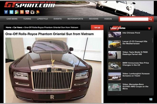 """Báo Tây """"lác mắt"""" với Rolls-Royce độc giá 30 tỷ của đại gia Việt"""