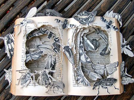 Những tác phẩm điêu khắc tuyệt đẹp từ sách cũ
