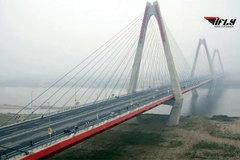 Ngắm cầu Nhật Tân tuyệt đẹp từ trên cao