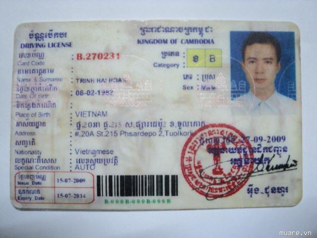 Thủ tục cấp đổi giấy phép lái xe của nước ngoài tại Việt Nam