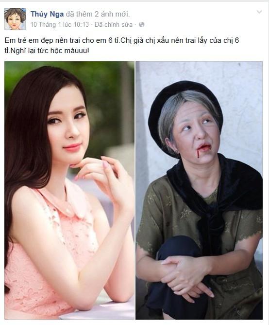 Thuý Nga chua chát so sánh đời mình với Angela Phương Trinh