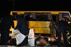 Ukraina: xe buýt trúng tên lửa, 11 người thiệt mạng