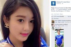 Á hậu Huyền My xuất hiện trên fanpage của Chelsea