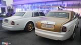 Bộ đôi Rolls-Royce Phantom mạ vàng của đại gia Thái Nguyên