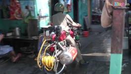Xe cứu hỏa hai bánh ở Sài Gòn