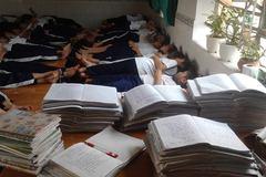 Hình ảnh ấn tượng về buổi trưa ở trường tiểu học