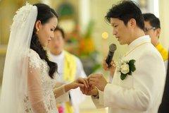 Chùm ảnh đám cưới bí mật của Dustin Nguyễn và Bebe Phạm
