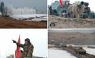 Xem xe tăng Triều Tiên tập trận vượt sông