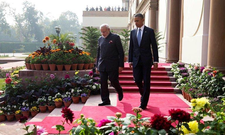 Mỹ, Ấn Độ, Obama, Modi, Trung Quốc, Nga, Putin, cường quốc, Twiter