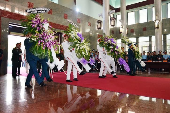 Lễ truy điệu 4 phi công hi sinh vụ máy bay rơi