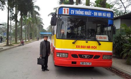 PGS, đến trường, xe bus, Học viện Nông nghiệp