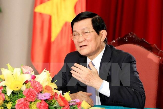 Chủ tịch nước, Trương Tấn Sang, tham nhũng, giàn khoan, cải cách tư pháp, Hải Dương 981, chủ quyền, thể chế, tăng trưởng