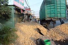Hàng chục tấn khoai mì lấp kín 3 căn nhà ở Sài Gòn