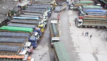 Trên 1.200 xe ôtô hoa quả ùn ứ ở cửa khẩu Tân Thanh