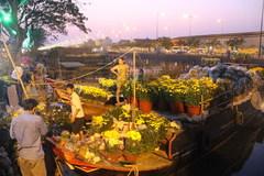 Nhộn nhịp chợ hoa nổi duy nhất ở Sài Gòn