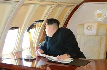 cận cảnh, chuyên cơ riêng, Kim Jong Un
