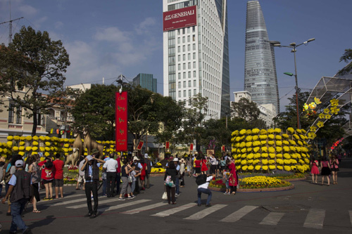 Hình ảnh chiều 30 Tết ở Sài Gòn