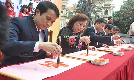 khai bút, đền thờ nhà giáo Chu Văn An