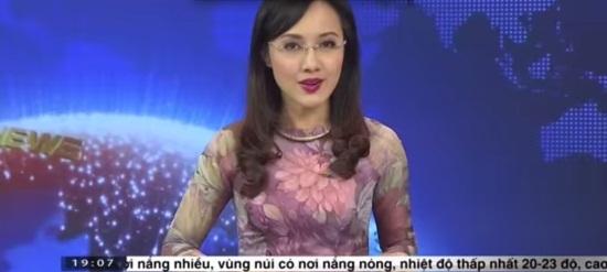 Trang phục lên sóng ấn tượng của BTV Hoài Anh