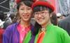 Thiếu nữ Kinh Bắc khoe sắc giữa Hội Lim