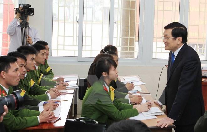 Xây Học viện Cảnh sát thành trung tâm đào tạo khu vực