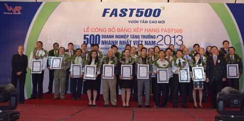 Công bố 500 doanh nghiệp tăng trưởng nhanh nhất...