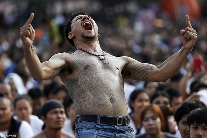 Lễ hội xăm mình bằng mực từ nọc rắn độc của Thái Lan