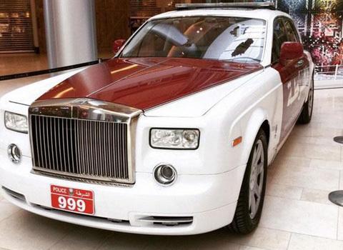 Cảnh sát Ả Rập 'tậu' Rolls-Royce Phantom làm xe tuần tra