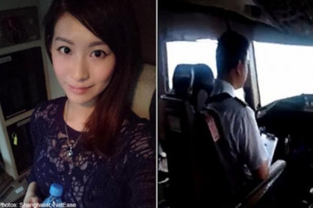 Thiếu nữ được mời vào buồng lái vì máy bay chật chỗ